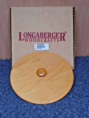"""Longaberger Woodcrafts """"9in. Measuring"""" Lid Only with Box #53856 (LG258)"""