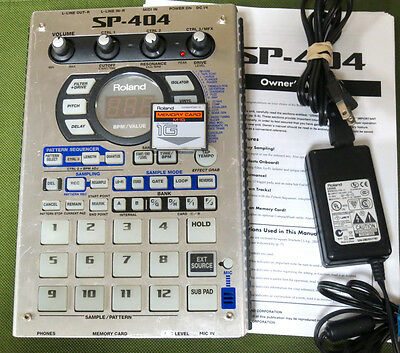 Roland SP-404 Dr. Sample SP404 Portable Sampler ~ w/ 1GB MEMORY CARD!