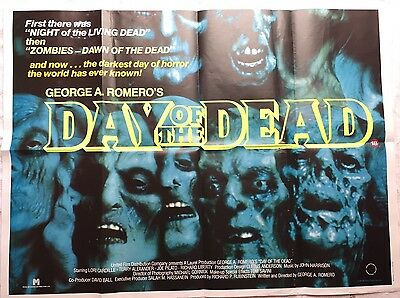 Original Day Of The Dead 1985 U.K. Quad