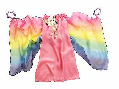 Sarah's Silks Fairy Dress in Pink with Rainbow Wings