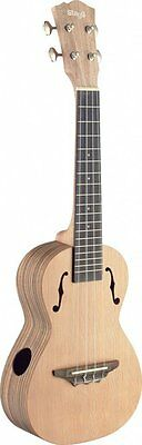Stagg UCX-ZEB-S Concert Ukulele Zebrawood with Solid Cedar Top - Natural