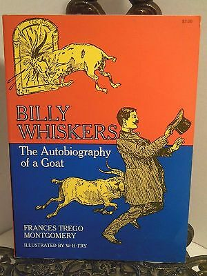 Billy Whiskers Book Autobiography of a GOAT Reprint of 1902 Edition Softcover