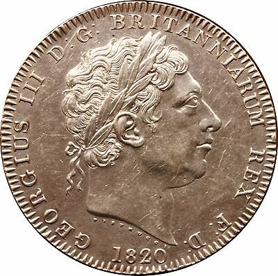 1820 LX George III Silver Crown coin