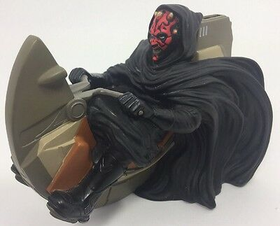Lucas Film Star Wars DARTH MAUL SPEEDER Coin Money Piggy Bank 1999 Figure Loose