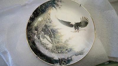 Set Of 4 Commemorative Eagle Plates Franklin Mint Bradford Exchange German
