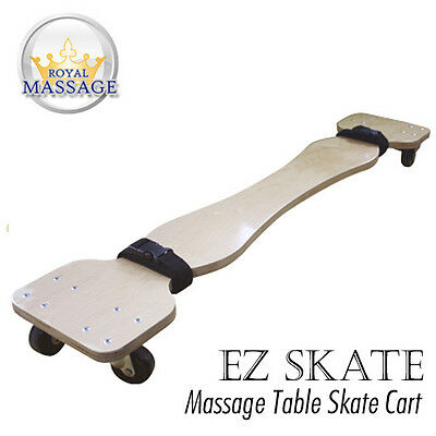 New! Massage Table Skate Cart - Skateboard Style Carrier With Wheels And Straps