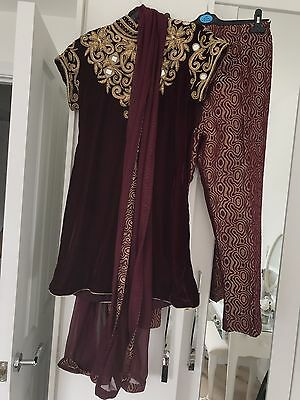 Traditional Indian Attire Outfit Clothing Eid Party Wedding Size 8-10