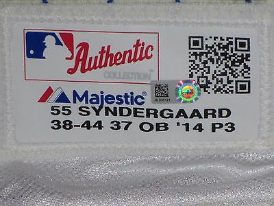 THOR Noah Syndergaard GAME ISSUED 2014 PANTS long Cream New York Mets MLB holo