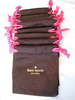 10 New  KATE Spade Drawstring Jewelry Bag DUST BAG