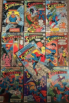 Superman (1St Series) #326 - #335. Nice Run Of 10 Issues 1978 Dc. Hi Grade Set.