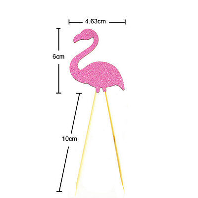 Flamingo Cupcake Cake Multicolor Flags Toppers Decoration Wedding Party