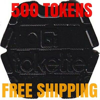 NEW! Lot of 500 Black Tokettes GI Greenwald Laundry Tokens Type 1 Tokette