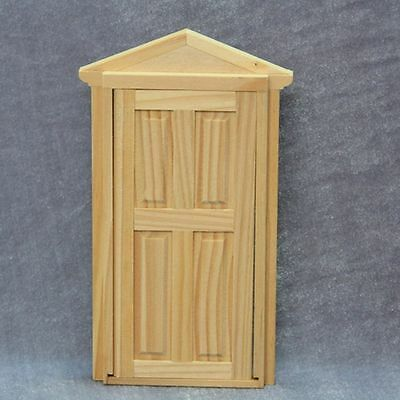 1:12 Scale Miniature Doll House 4-Panel Furniture Wooden Door