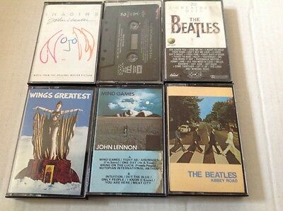 Beatles Cassette Tapes Lot Of 6