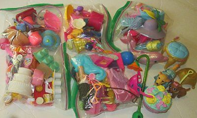 BARBIE Doll huge lot of 200 little play ACCESSORIES food dishes pet hat brush ++