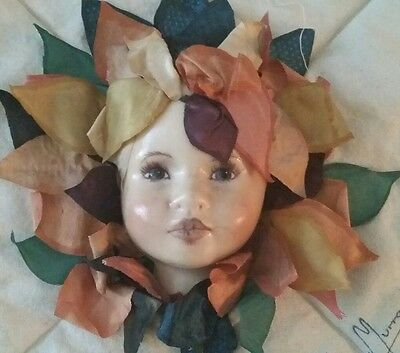 Linda Murray signed, Made by Linda Murray Doll Craft Piece