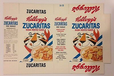 Vintage 1966 Kellogg's Zucaritas (Frosted Flakes) Cereal Box Flat,South America