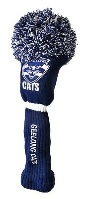 Afl Driver Pom Pom Head Cover - Official Afl Merchandise - Geelong - New!