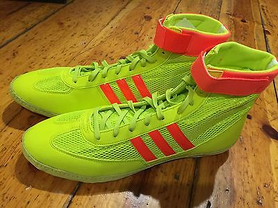 New Adidas Combat Speed 4 Yellow Wrestling Shoes 5
