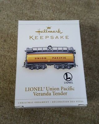 2006 Hallmark LIONEL UNION PACIFIC VERANDA TENDER Ornament LIONEL TRAIN
