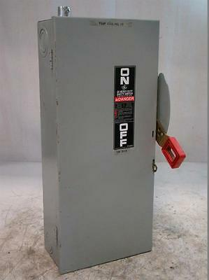 Th3362 Safety Switch 60A 3P 600V Fused Ge