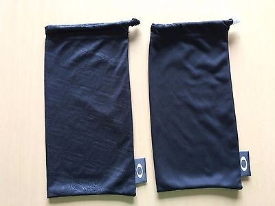 Oakley Sunglasses Microfiber Cleaning Bag : Lot Of 2 : Oakley Icon & Black