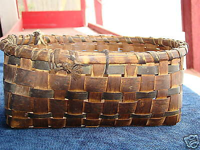 Antique East Coast Abenaqui Indian Primitive Basket