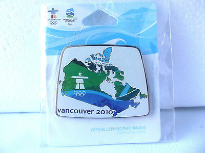 VANCOUVER 2010 Olympic CANADA Pin Canada Map