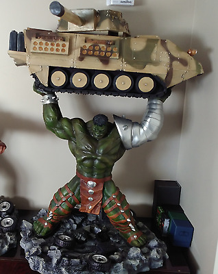 WORLD WAR HULK Vs TANK 1/4 Scale Statue 45 INCHES Custom Resin not sideshow