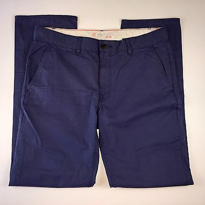 Jack Threads Slim Fit Blue Flat Front Chinos Pants Mens 34x32