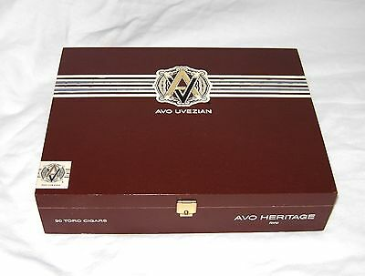 Avo Uvezian Heritage Toro Hinged Wood Cigar Box Tobacco Handcrafted