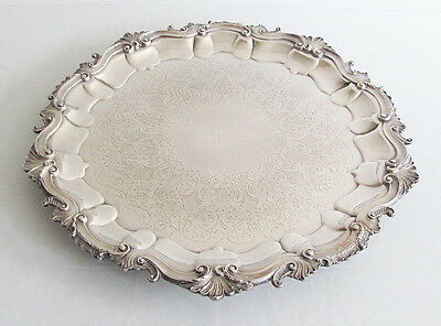 Elegamt Antique Borbour Silver Co. Silverplate Silver Plate  Butler Serving Tray