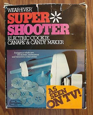 Vintage WearEver Super Shooter Electric Cookie Canape & Candy Maker No. 70001