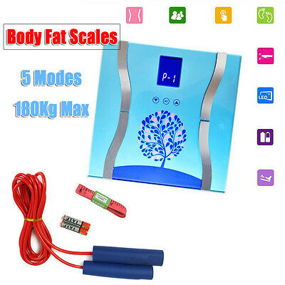 180KG Digital Electronic Body Fat Bathroom Weight Scales Muscle Water BMI Health
