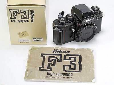 Nikon F-3 Film Camera body only with instruction book and original box