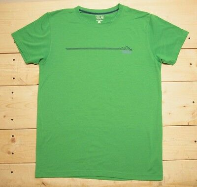 Men's MOUNTAIN HARDWEAR Green Short Sleeve Athletic Outdoor T Shirt Size M
