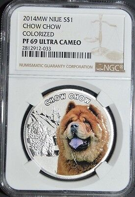 Niue 2014 1$ Mans Best Friends Dogs - Chow Chow NGC PF69