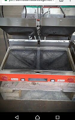 Sirman PD Double Ribbed Contact Grill Panini Machine