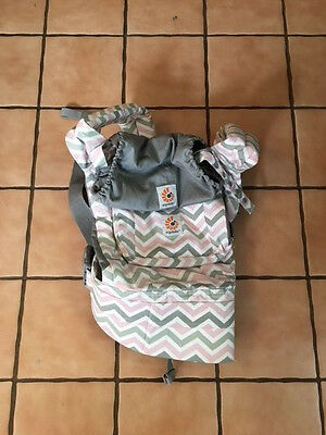 ergobaby Baby Carrier - Used Once. Pink / Gray / White REDUCED