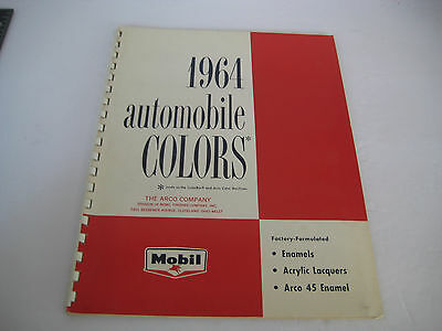 Vtg 1964 Arco AUTO Car Paints Color Catalog FORD CADILLAC CHEVY CHRYSLER DODGE