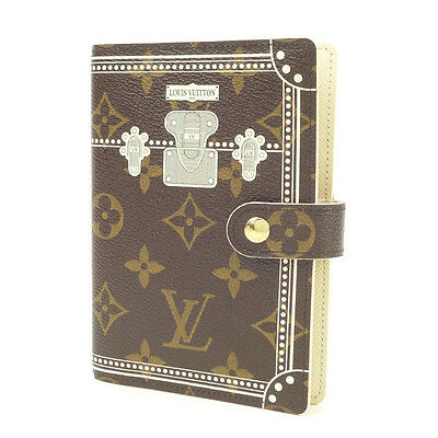 Authentic LOUIS VUITTON Monogram Malle Agenda PM Planner Cover R20965 Used F/S