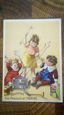 Ivorine The Wonderful Cleanser Victorian Trade Card
