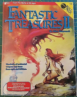 Ad&d Dungeons & Dragons Fantastic Treasures Ii 2 Role Aids 730 Rpg Tsr Role Play