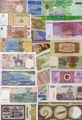 Set of 25 Different Banknotes 25 Different Countries Costa Rica Vietnam India #G