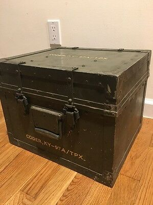 Military Box Cy-951 Ammo Case Supplies Army Gear Carry Ky-97A Coder USA Metal