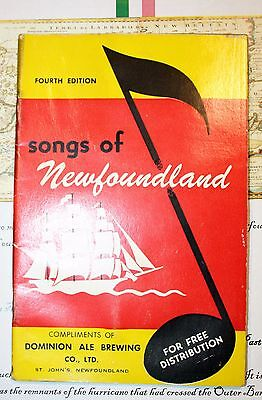 Vintage Newfoundland Song Booklet - Dominion Ale Brewing Co.