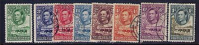 BECHUANALAND PROTECTORATE  STAMPS ,KGVI SC# 124-31 MH/Used CAT.$22