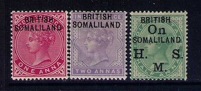 Somaliland Ovpt Stamps QV SC# 2-3;O1 MH