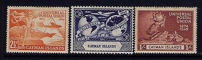 Cayman Islands UPU Stamps SC# 118;119;121 MH