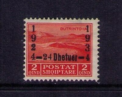 Albania Stamps, Ovpt 1924-1934 SC # 262  MH